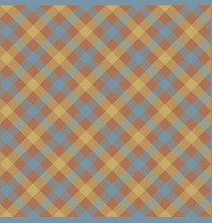 brown check plaid fabric texture seamless pattern vector image