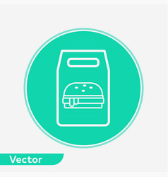 burger bag icon sign symbol vector image