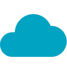business networking cloud storage icon vector image
