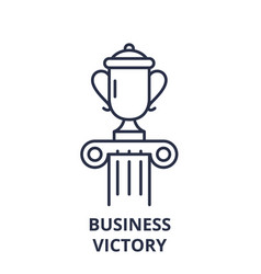 business victory line icon concept business vector image