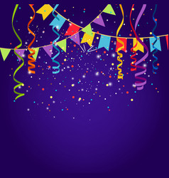 Celebration purple background vector