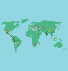 Centers crops origin vector