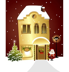 Christmas shop vector