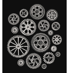 Cogwheels and gears vector