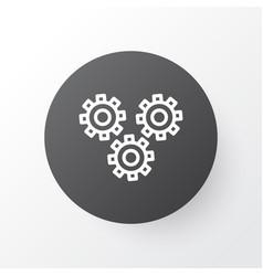 Cogwheels icon symbol premium quality isolated vector