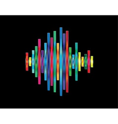 Colorful waveform vector