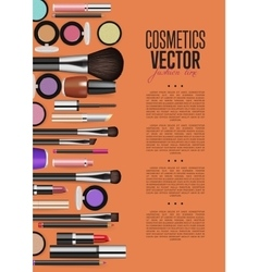 Cosmetic product Promo Brochure Page Layout vector