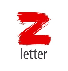 Creative logo red letter Z vector image