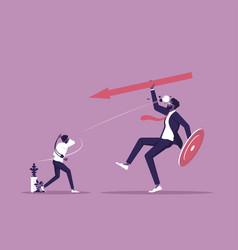 David vs goliath-small business vs big vector