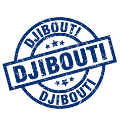 djibouti blue round grunge stamp vector image