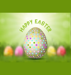 easter egg on defocussed background vector image