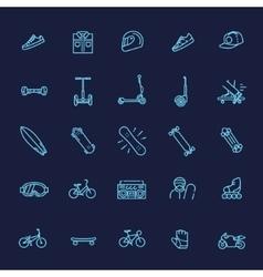 extreme sports icon set vector image
