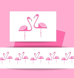 Flamingo bird sign vector