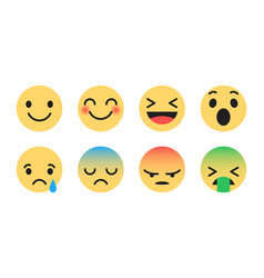 flat design modern emoticons vector image
