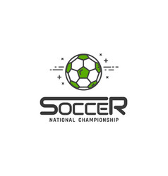 football or soccer logo vector image
