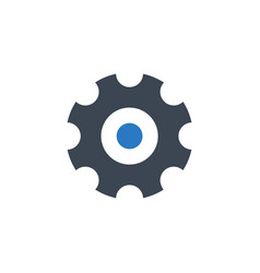 gear related glyph icon vector image