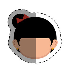Geisha japanese girl icon vector