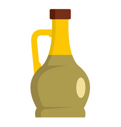 glass bottle icon flat style vector image