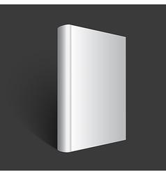 Gray book on dark background vector
