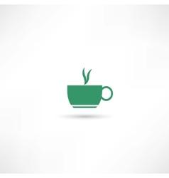 Green hot cup vector
