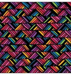 Hand drawn colorful seamless pattern vector