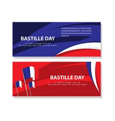 Happy bastille day celebration poster template vector