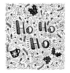 ho-ho-ho - handdrawn handwritten vector image