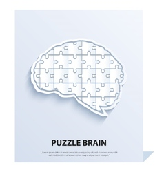 Human brain composed of a puzzle vector image