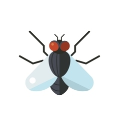 Insect fly icon flat isolated on white background vector image