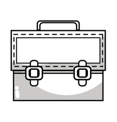 Line elegant briefcase to save important document vector