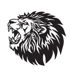 lion roaring logo mascot design vector image