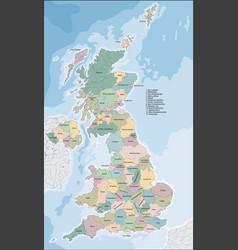 Map united kingdom vector