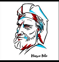 Marco polo portrait vector