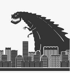 monster in a town vector image