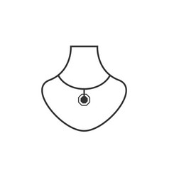 necklace graphic design template vector image