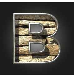 Old stone letter b vector