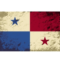 Panamanian flag Grunge background vector image