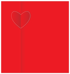 Paper heart valentine card vector image