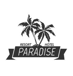 Paradise island resort hotel logo vector