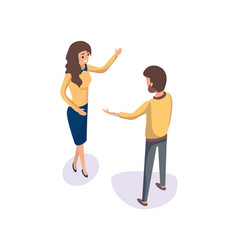 people on meeting man woman discussing business vector image