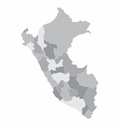 peru regions map vector image