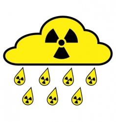 radioactive fallout vector image
