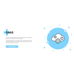 saas icon banner outline template concept saas vector image