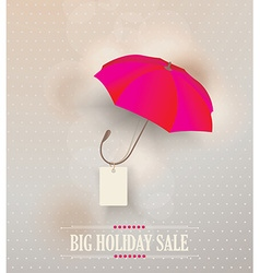Sale poster with classic elegant opened red vector
