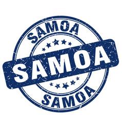 Samoa blue grunge round vintage rubber stamp vector