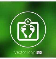 Scale icon iweight diet symbol dieting vector image