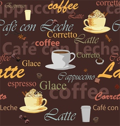 seamless coffee theme vector image