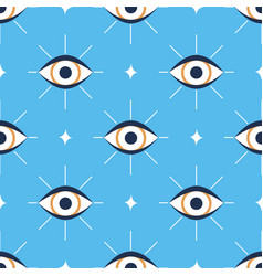 seamless pattern with occult evil eye vector image