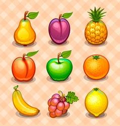 Set fruits vector