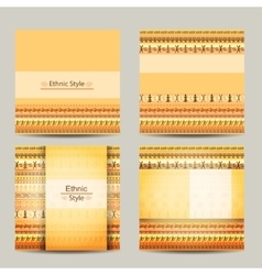 Set of cards with ethnic african design Geometric vector image